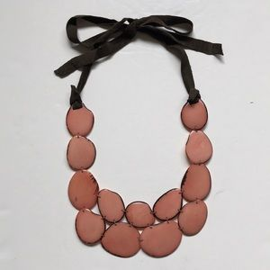 Anthropologie Andean Collection Tagua Bib Necklace
